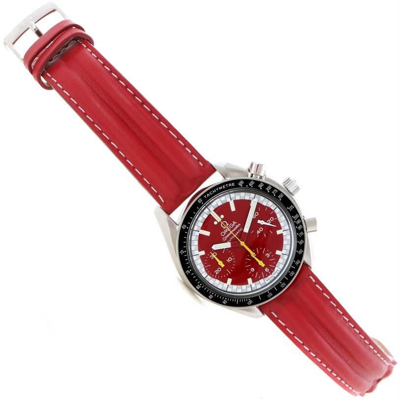 11567 Omega Speedmaster Schumacher Red Chronograph Watch 3510.61.00 SwissWatchExpo