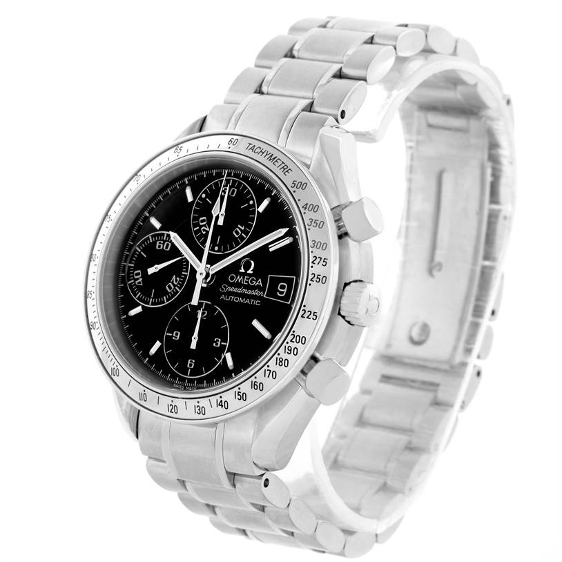 11109 Omega Speedmaster Date Chronograph Mens Watch 3513.50.00 Box Papers SwissWatchExpo
