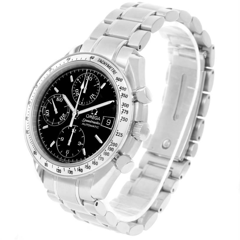 omega speedmaster date black chronograph mens