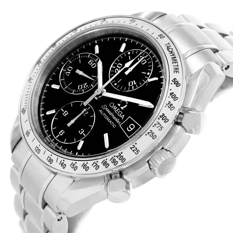 omega speedmaster date black dial automatic mens watch. Black Bedroom Furniture Sets. Home Design Ideas