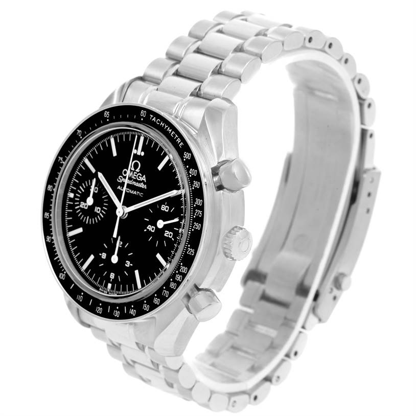 12872 Omega Speedmaster Reduced Sapphire Crystal Steel Mens Watch 3539.50.00 SwissWatchExpo