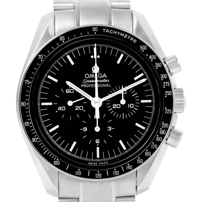 13046 Omega Speedmaster 42mm Steel Moon Watch 3570.50.00 Box Papers SwissWatchExpo