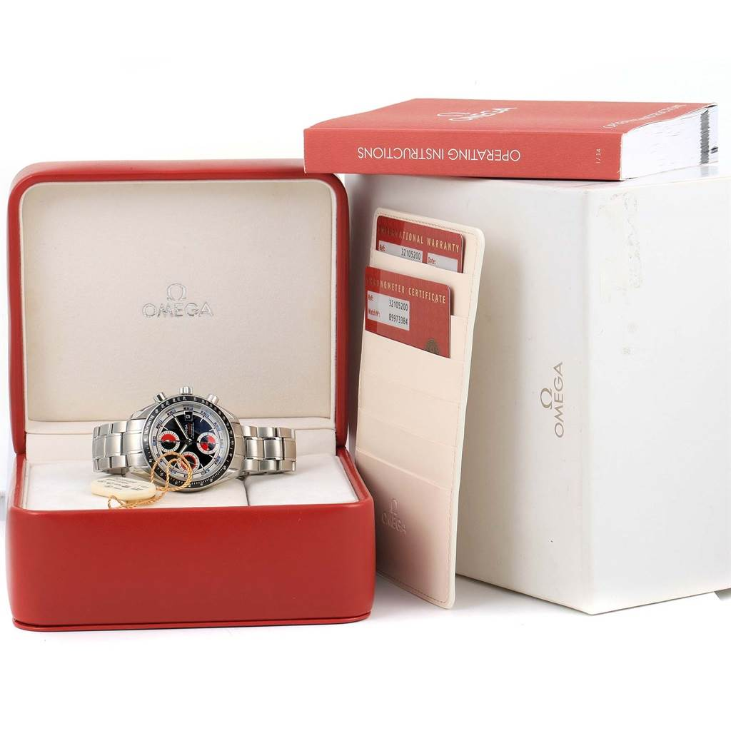 14140 Omega Speedmaster Day Date Automatic Mens Watch 3210.52.00 Box Papers SwissWatchExpo