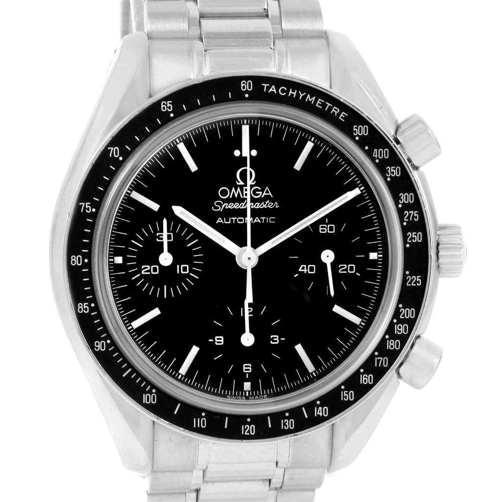 13266 Omega Speedmaster Reduced Automatic Chronograph Steel Watch 3539.50.00 SwissWatchExpo