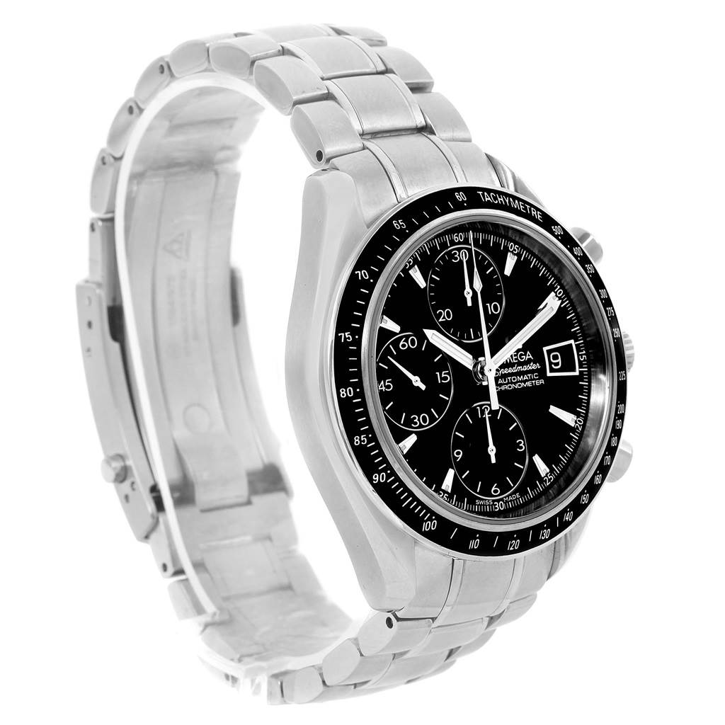 14156 Omega Speedmaster Chronograph Black Dial Mens Watch 3210.50.00 SwissWatchExpo