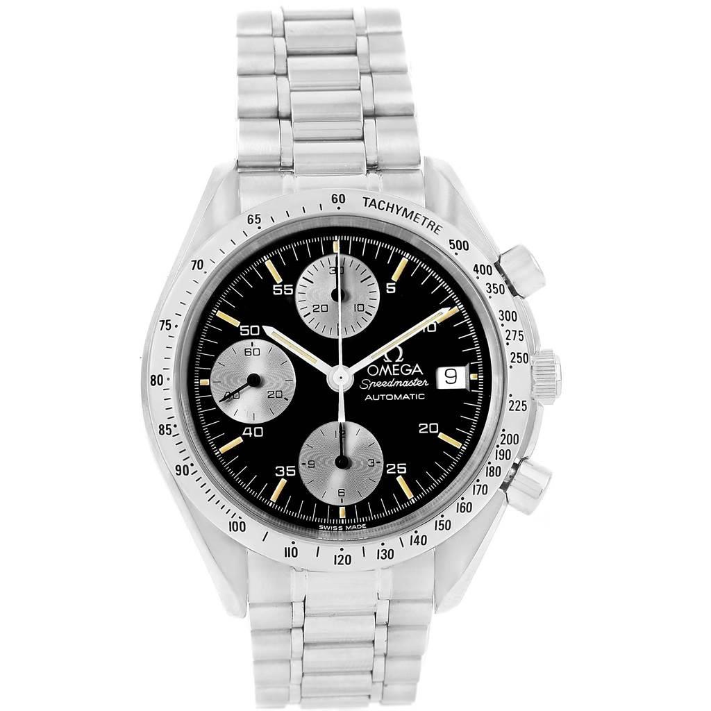 14271 Omega Speedmaster Date Automatic Black Dial Steel Watch 3511.20.00 SwissWatchExpo