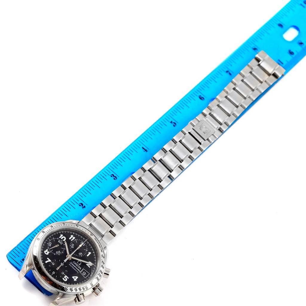 Omega Speedmaster Date Black Arabic Dial Steel Mens Watch 3513.52.00 SwissWatchExpo