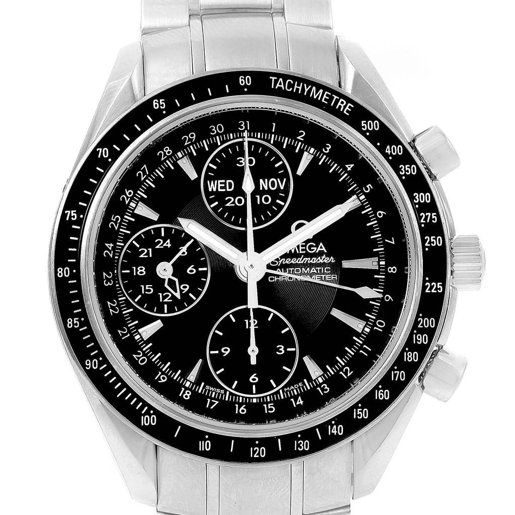 ed400e61b ... 15749 Omega Speedmaster Day Date Automatic Steel Mens Watch 3220.50.00  SwissWatchExpo ...