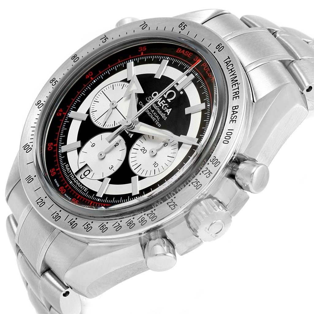 15820 Omega Speedmaster Rattrapante Broad Arrow Watch 3582.51.00 Box Card SwissWatchExpo