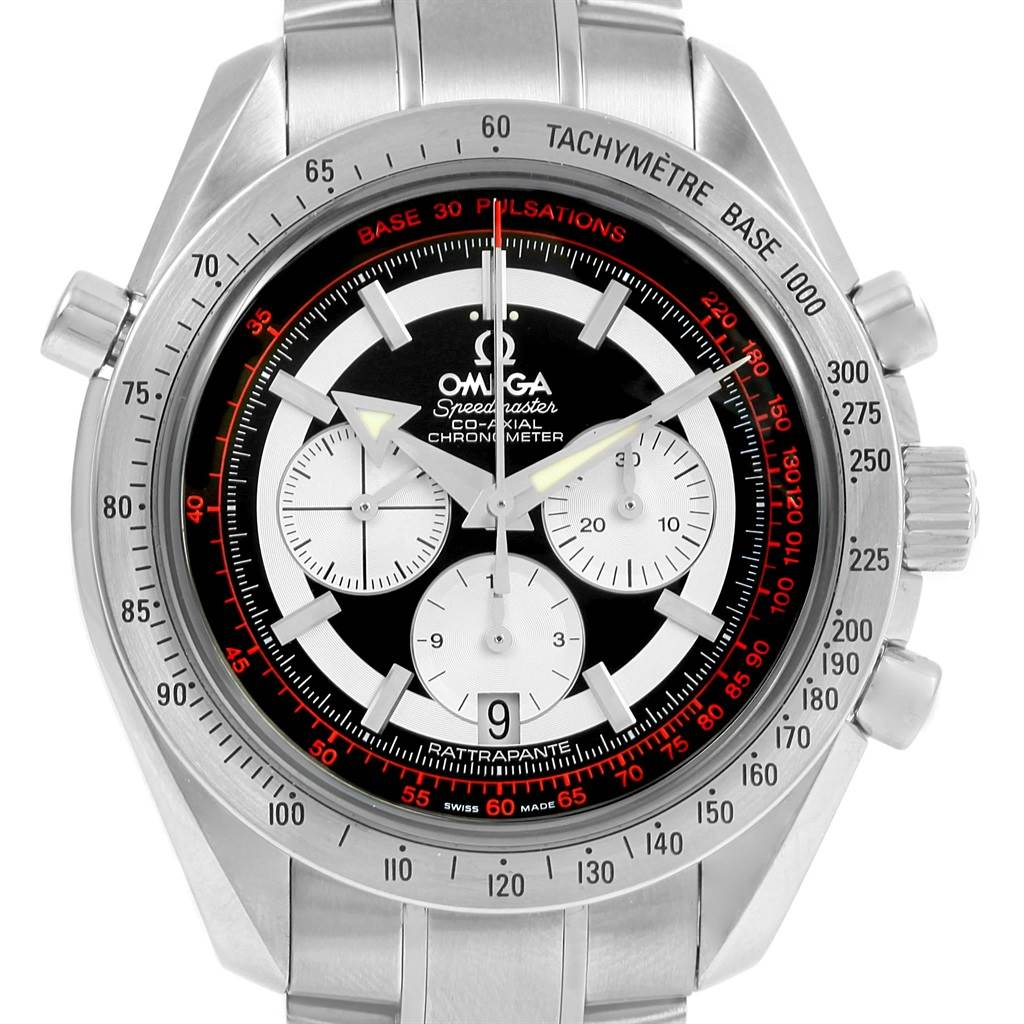 Omega Speedmaster Rattrapante Broad Arrow Watch 3582.51.00 Box Card SwissWatchExpo