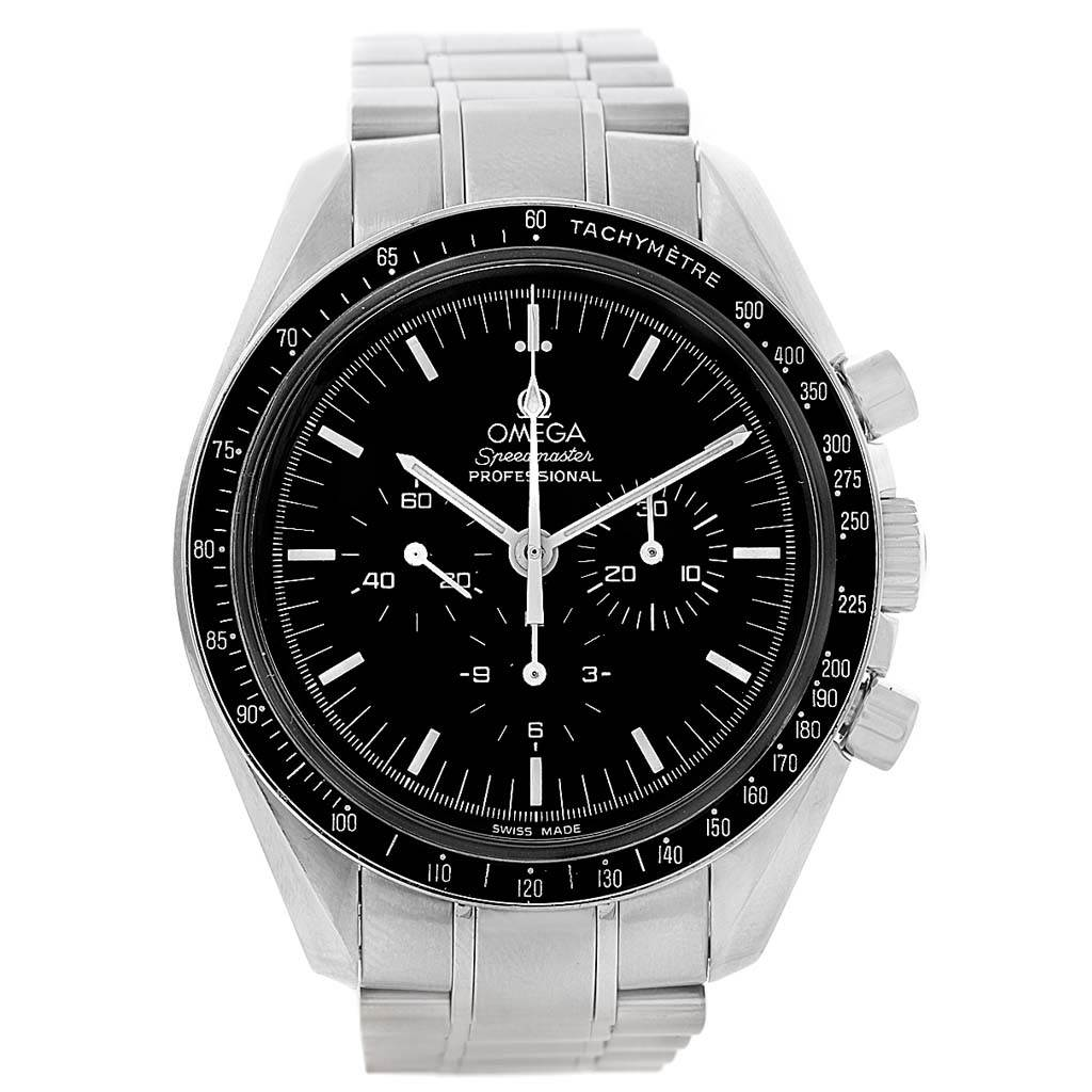 omega speedmaster chronograph steel mens moon watch. Black Bedroom Furniture Sets. Home Design Ideas