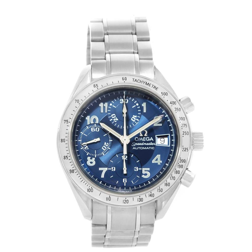 15994 Omega Speedmaster Blue Dial Automatic Mens Watch 3513.82.00 Card SwissWatchExpo