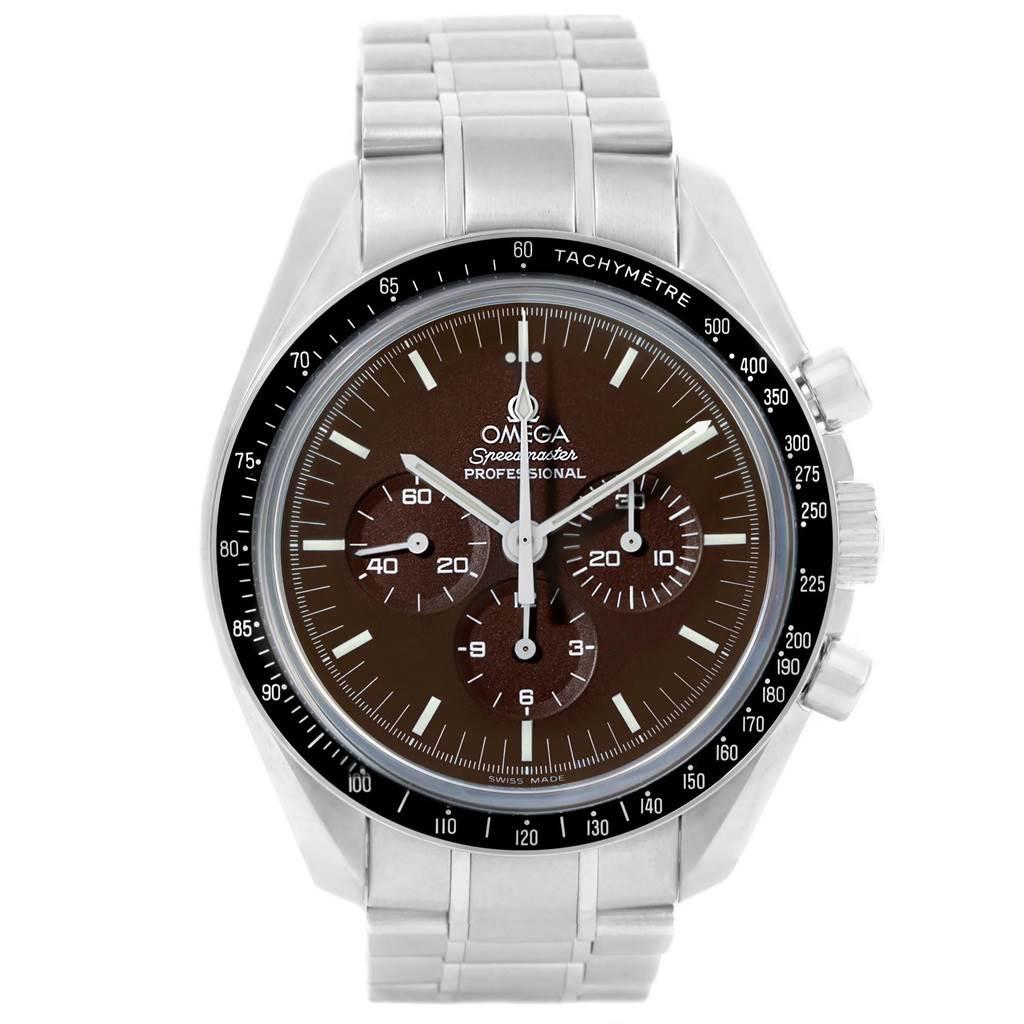 17106 Omega Speedmaster Brown Dial Exhibition Moon Watch 311.30.42.30.13.001 SwissWatchExpo