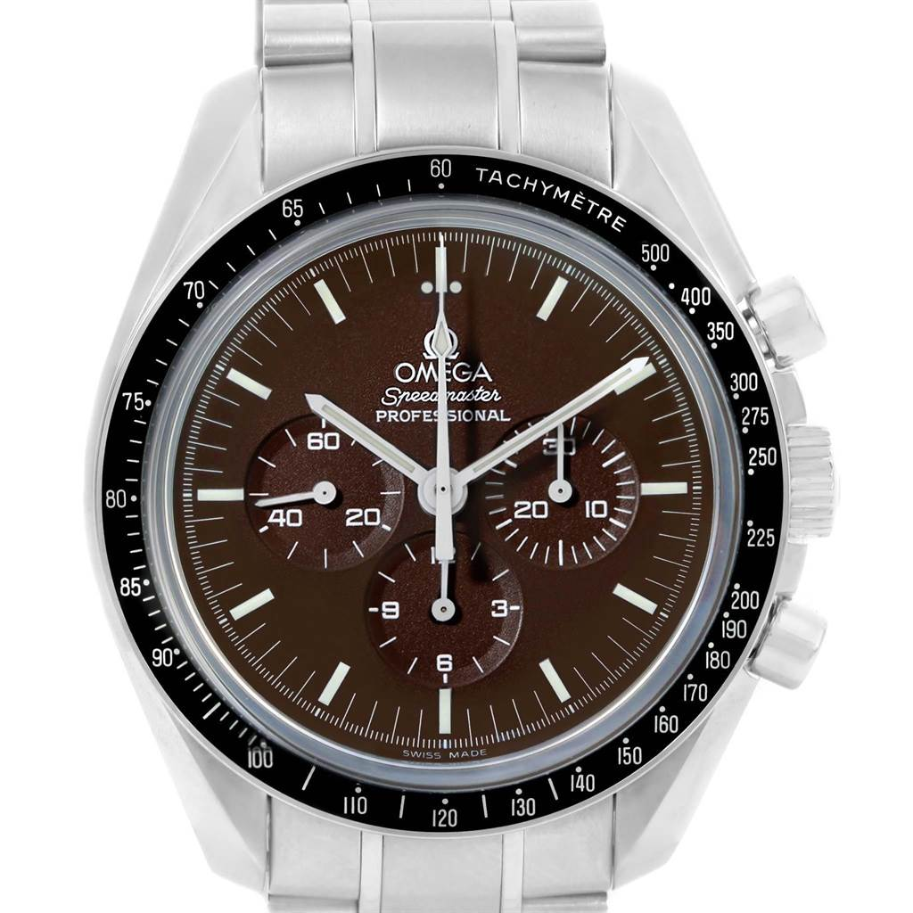 Omega Speedmaster Brown Dial Exhibition Moon Watch 311.30.42.30.13.001 SwissWatchExpo