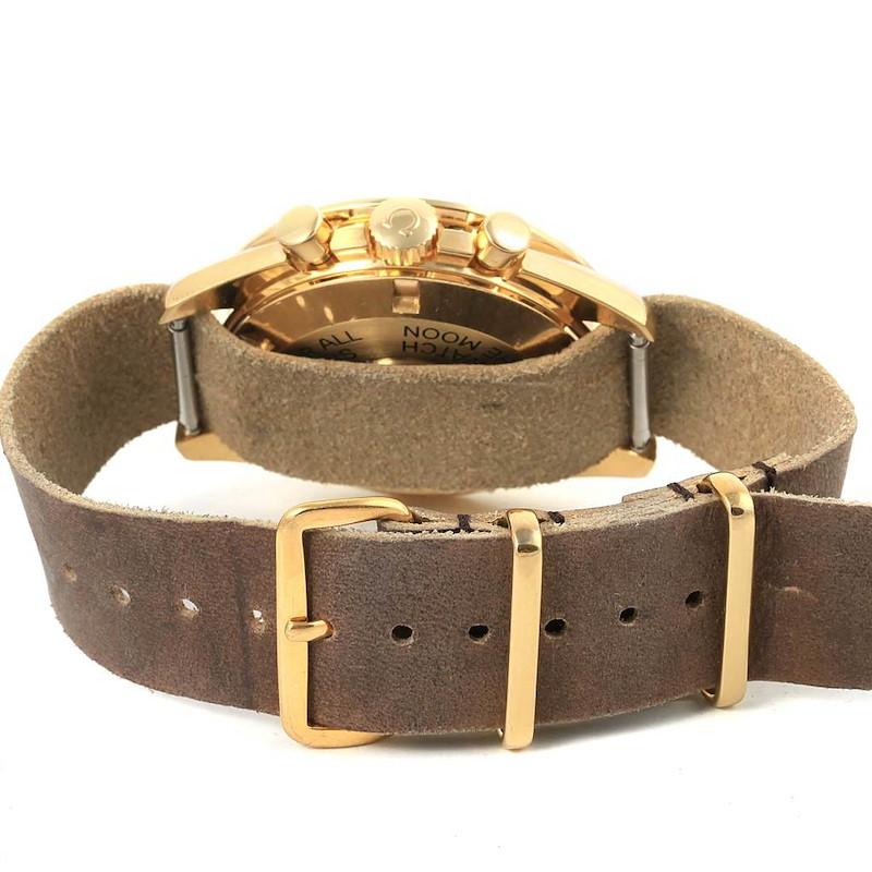 Omega Speedmaster Moonwatch 18K Yellow Gold Watch 3695.50.31 SwissWatchExpo