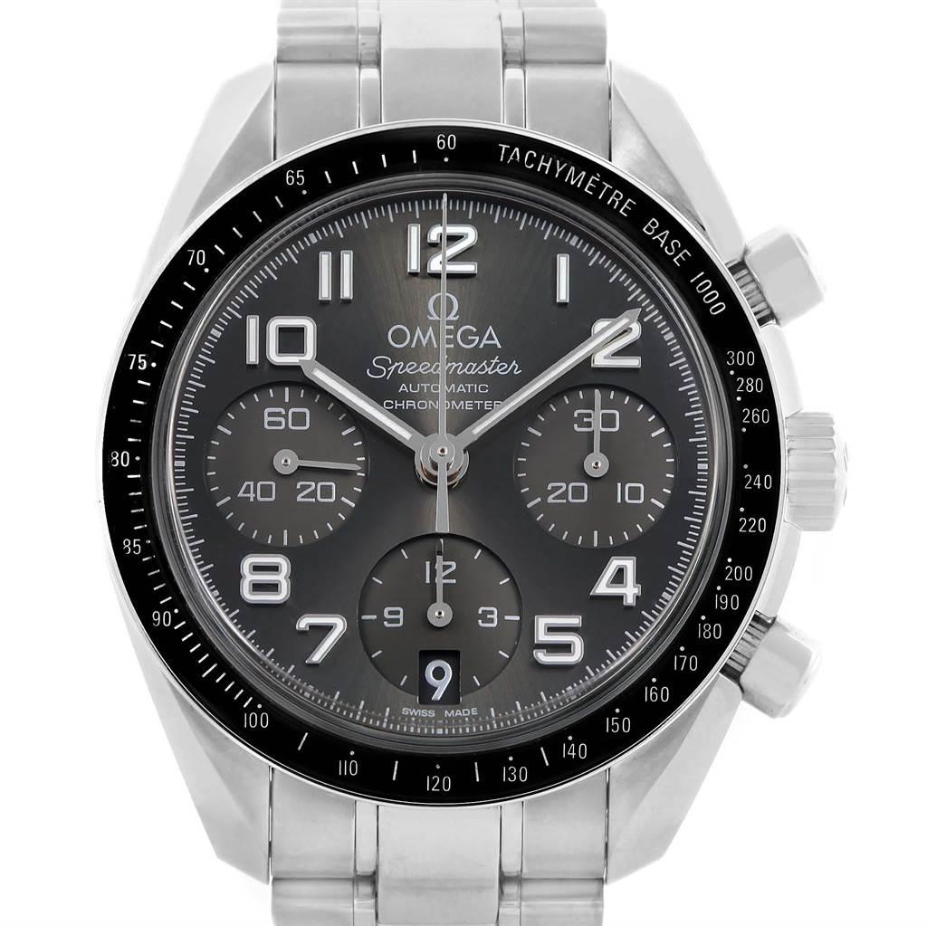 17299 Omega Speedmaster Chronograph Watch 324.30.38.40.06.001 Box SwissWatchExpo