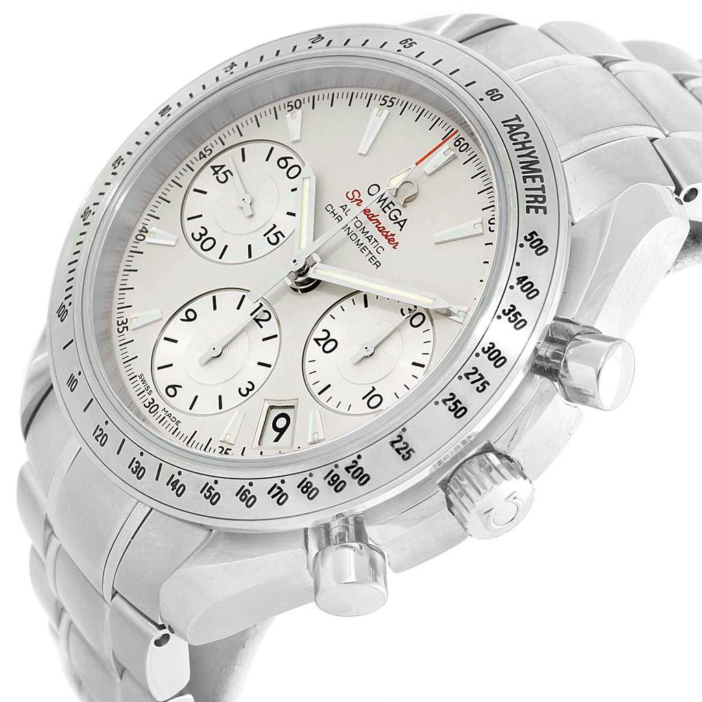 15993 Omega Speedmaster Day Date Silver Dial Mens Watch 323.10.40.40.02.001 SwissWatchExpo