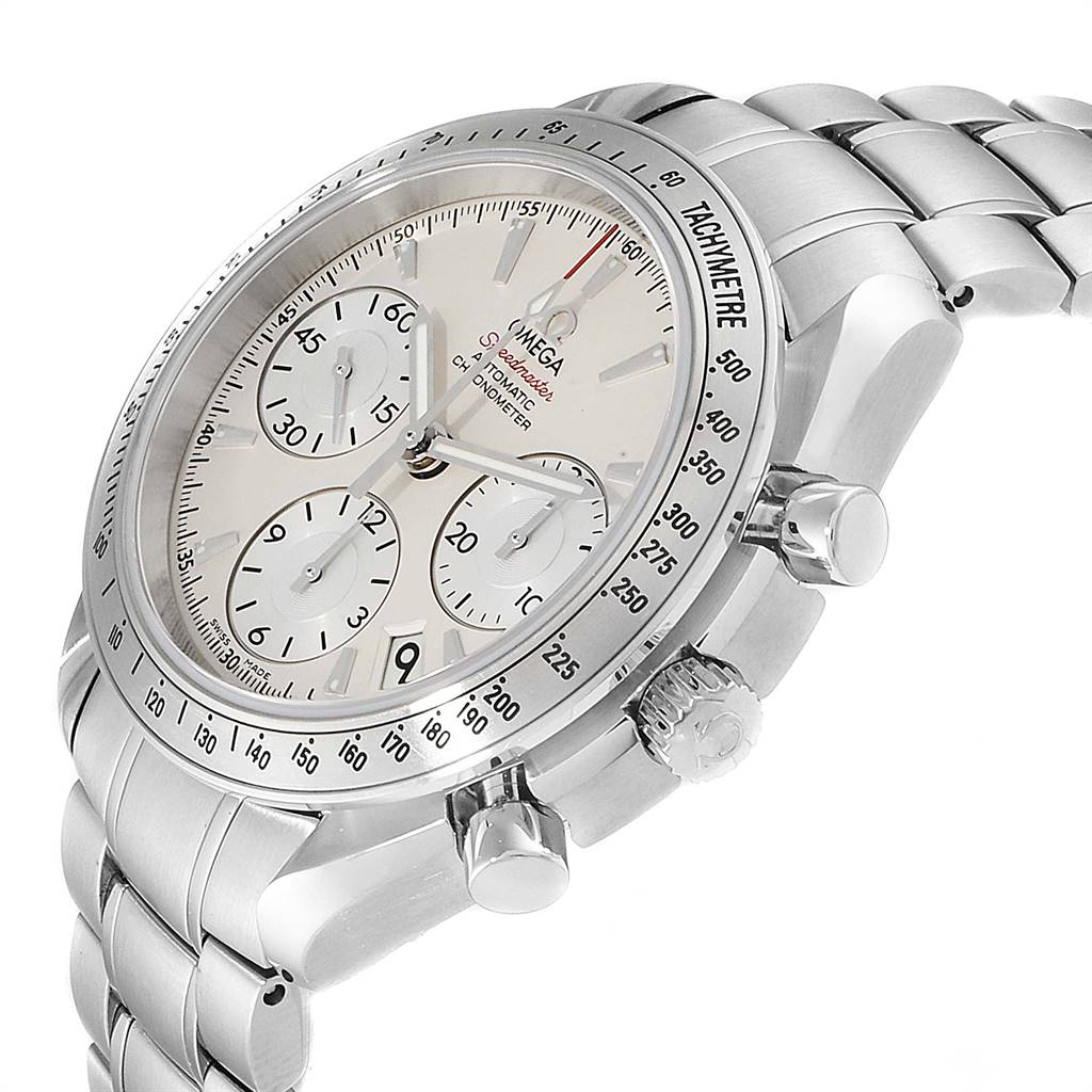 Omega Speedmaster Day Date Silver Dial Mens Watch 323.10.40.40.02.001 SwissWatchExpo