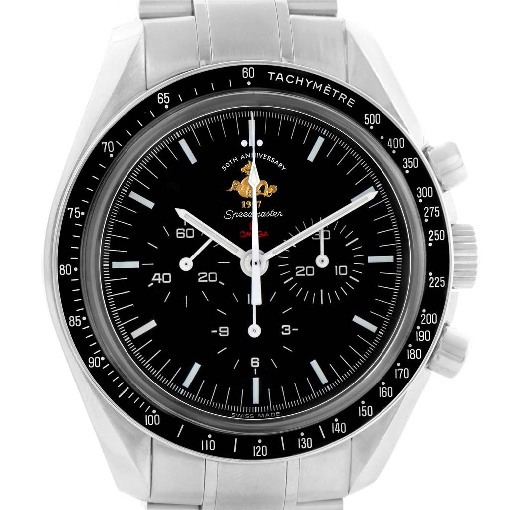 17954 Omega Speedmaster 50th Anniversary Moon Watch 311.30.42.30.01.001 SwissWatchExpo