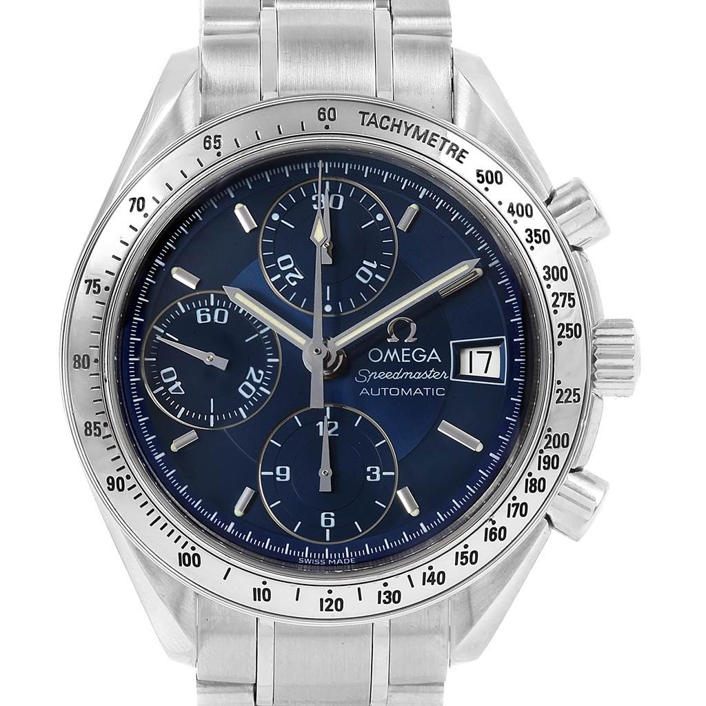 15034 Omega Speedmaster Date 39mm Chronograph Mens Watch 3513.80.00 SwissWatchExpo