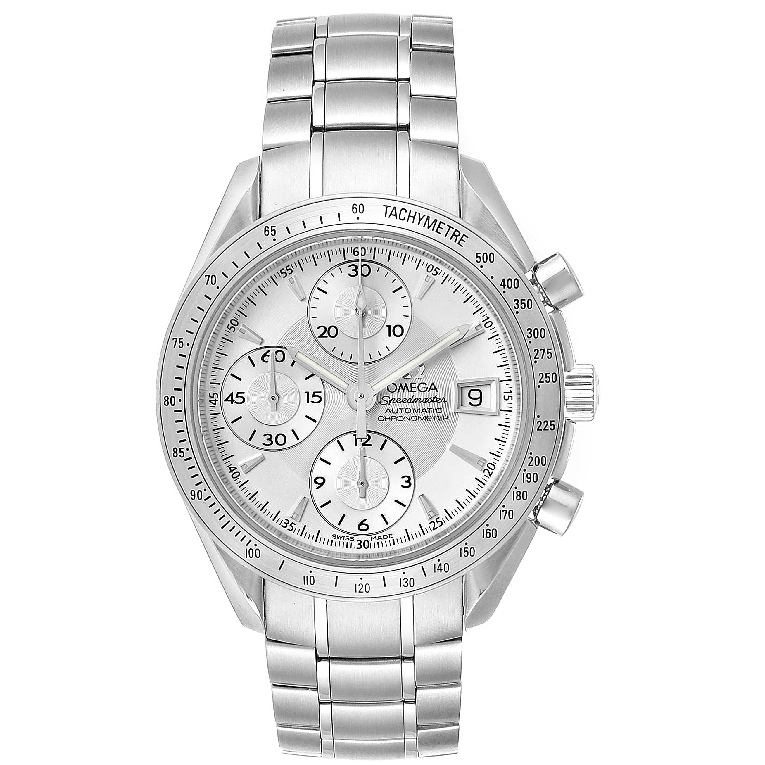 Omega Speedmaster Silver Dial Chronograph Steel Mens Watch 3211.30.00 SwissWatchExpo
