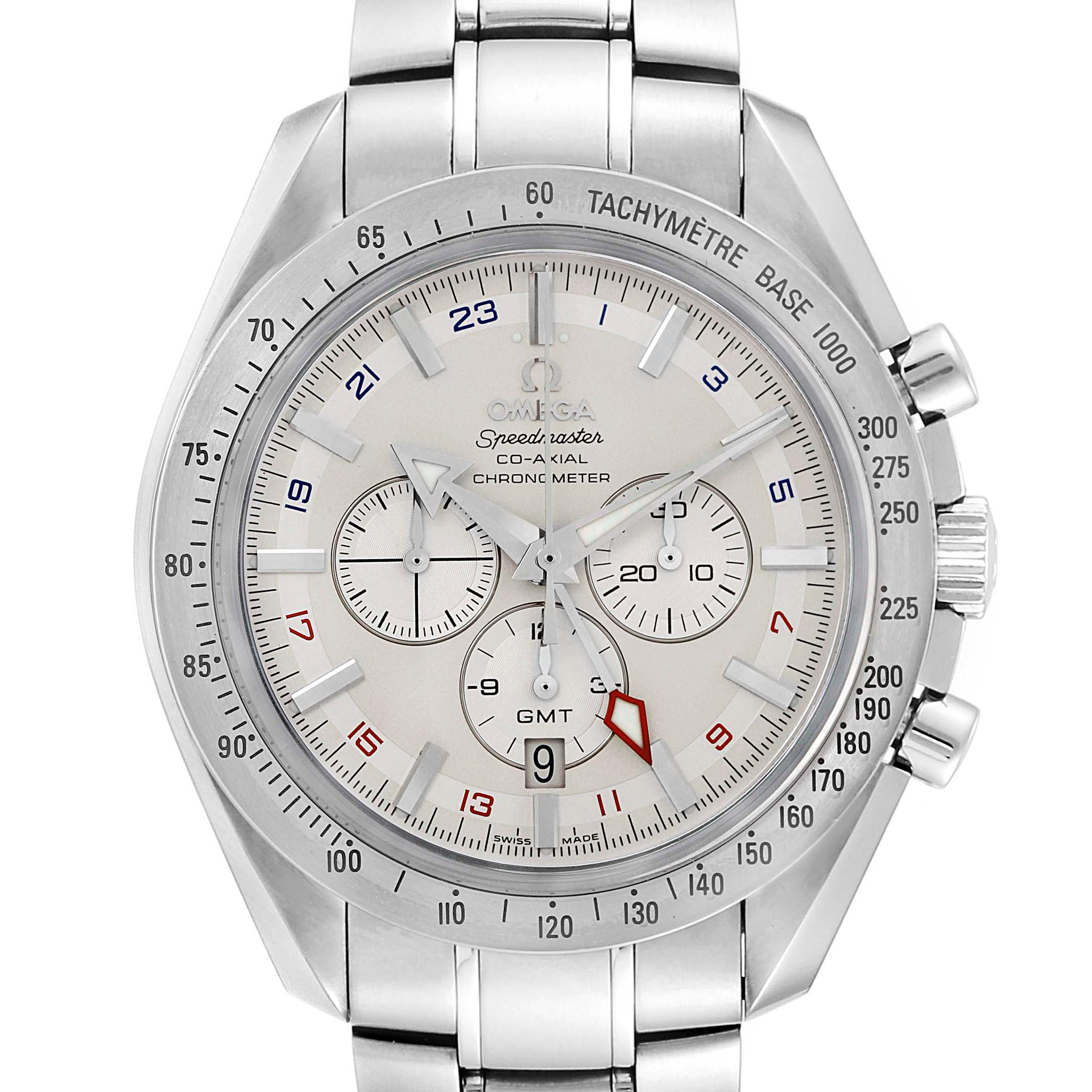 Omega Speedmaster Broad Arrow Co-Axial GMT Mens Watch 3581.30.00 SwissWatchExpo