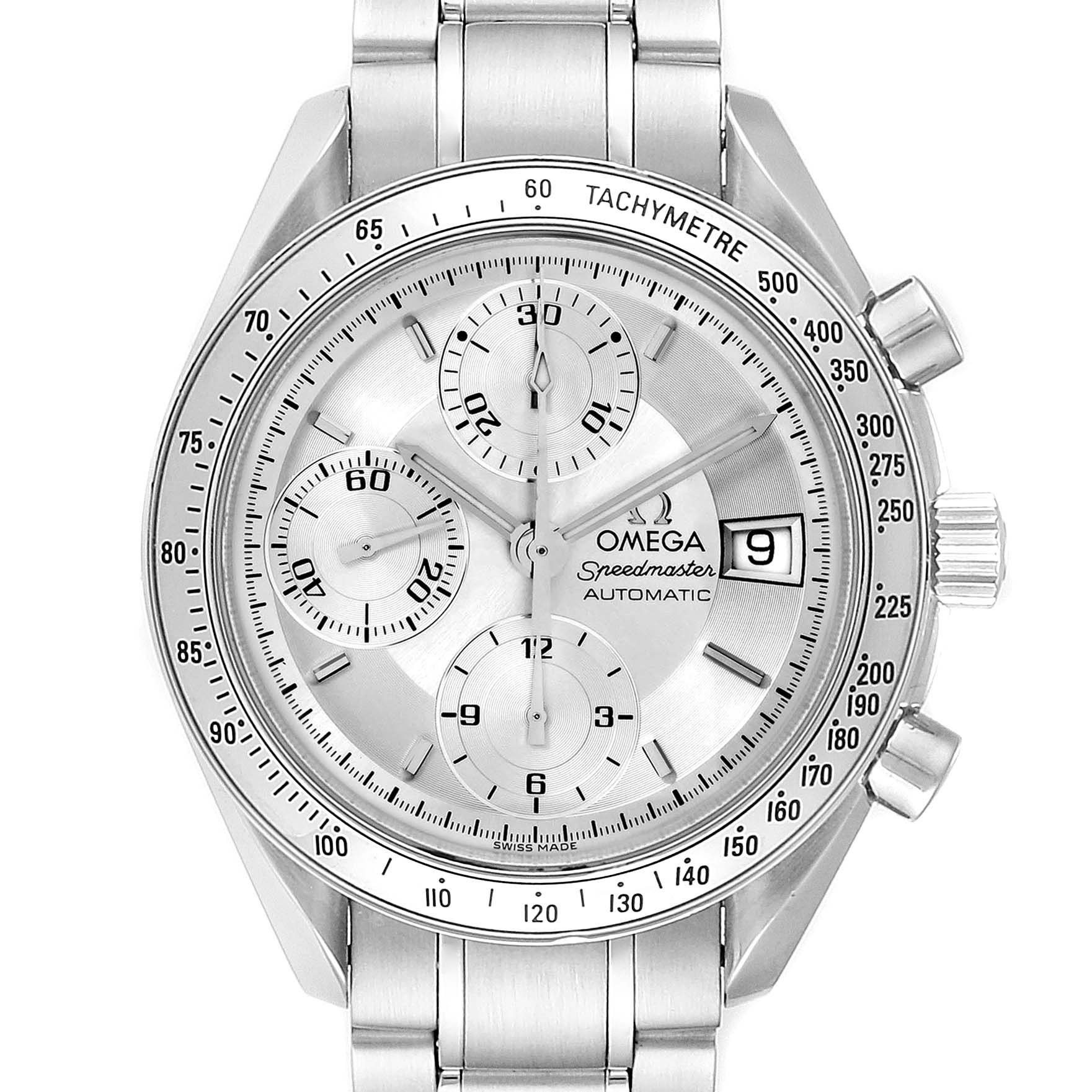 Omega Speedmaster Date Silver Dial Automatic Watch 3513.30.00 SwissWatchExpo