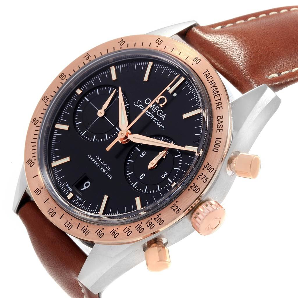 Omega Speedmaster Black Dial Steel Rose Gold Mens Watch 331.22.42.51.01.001 SwissWatchExpo