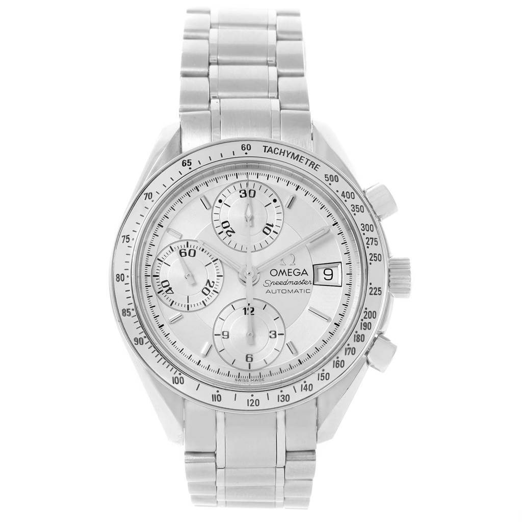 19298 Omega Speedmaster Date 39mm Silver Dial Steel Mens Watch 3513.30.00 SwissWatchExpo