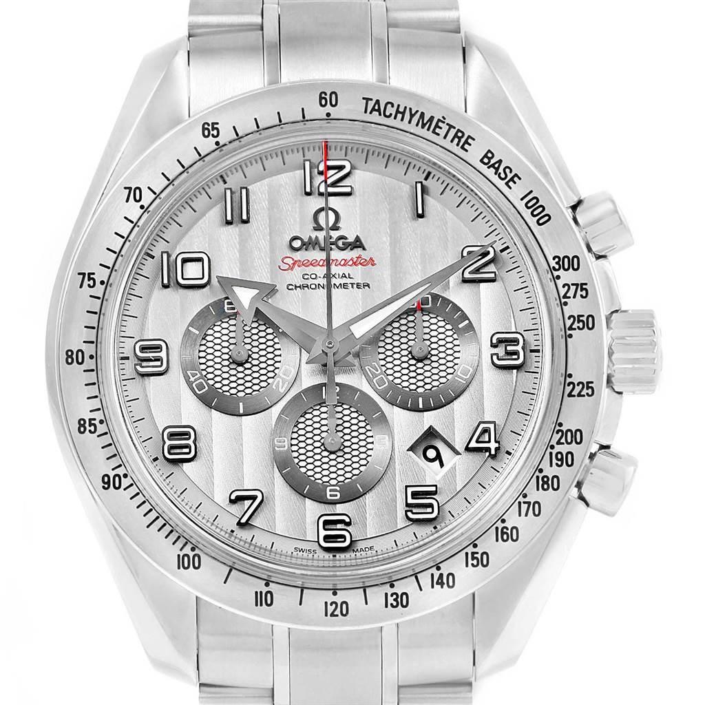 20917 Omega Speedmaster Broad Arrow Silver Dial 321.10.44.50.02.001 Box SwissWatchExpo