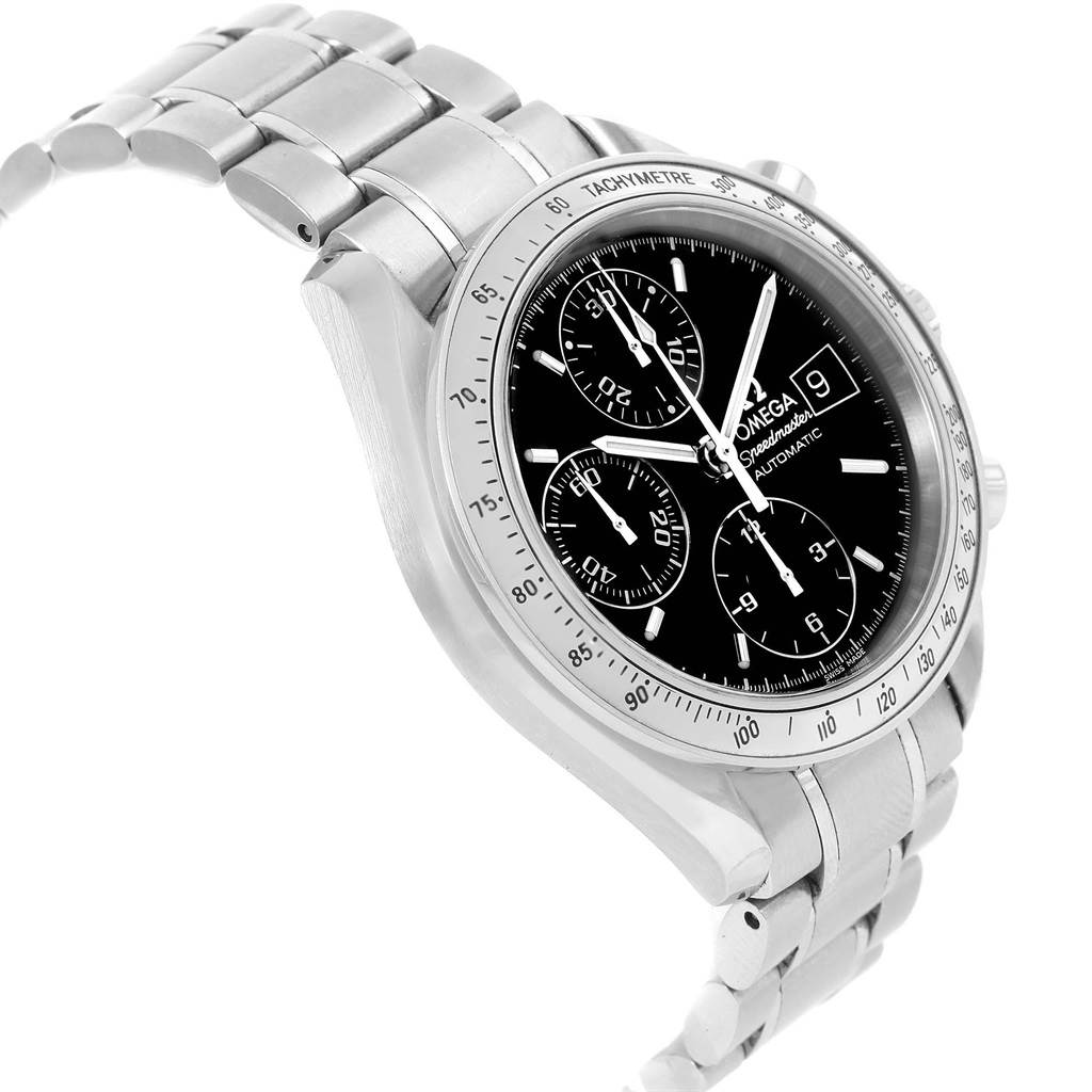 19015 Omega Speedmaster Date Chronograph Steel Mens Watch 3513.50.00 SwissWatchExpo
