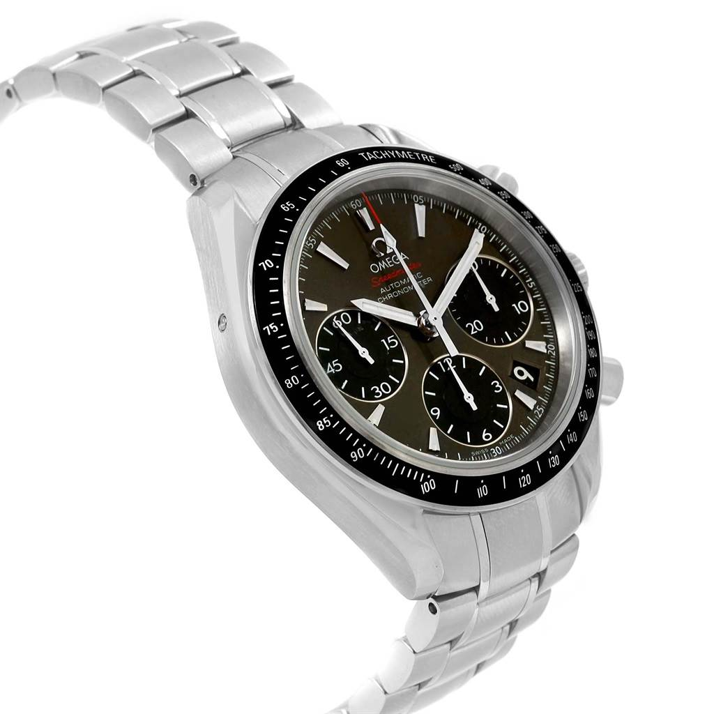 20726X Omega Speedmaster Day Date Gray Dial Watch 323.30.40.40.06.001 Card SwissWatchExpo