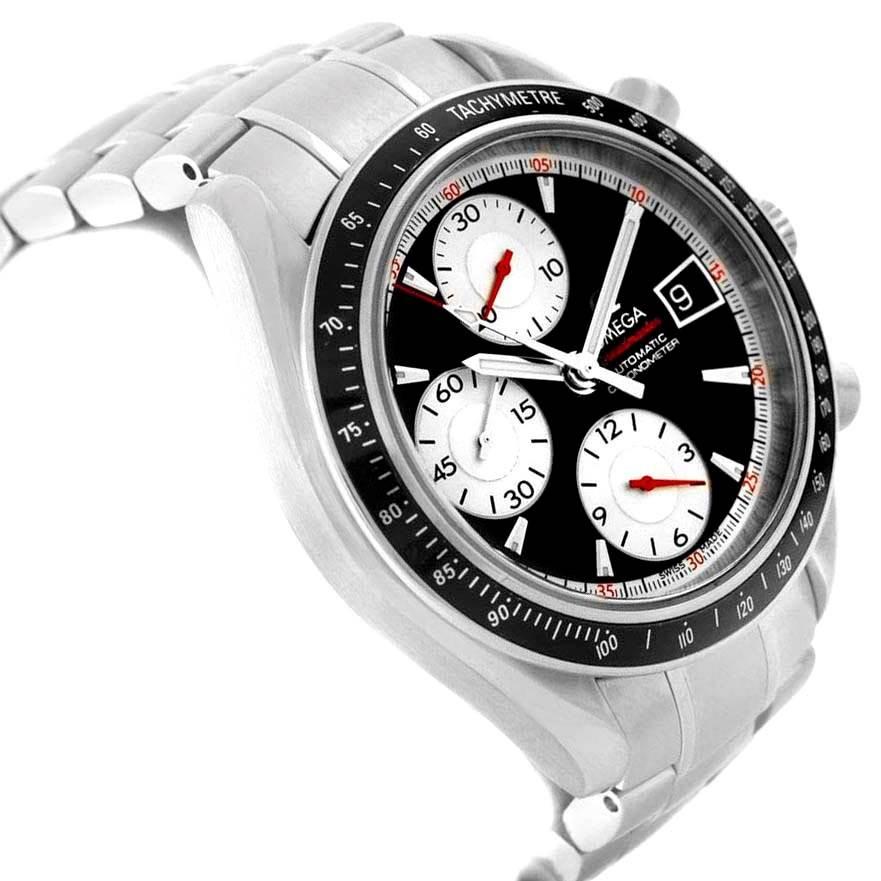 14273X Omega Speedmaster Date 40mm Black Dial Mens Watch 3210.51.00 SwissWatchExpo