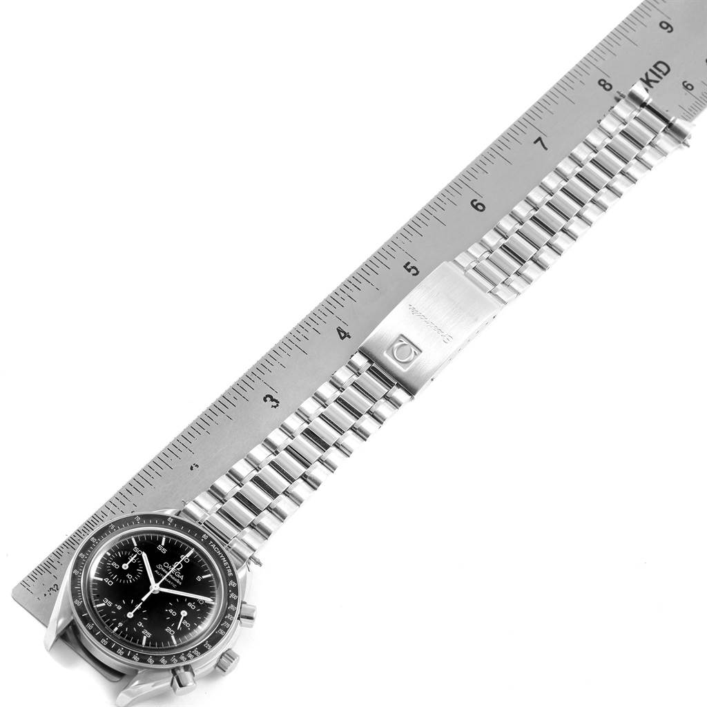 19302 Omega Speedmaster Reduced Black Dial Automatic Mens Watch 3510.50.00 SwissWatchExpo