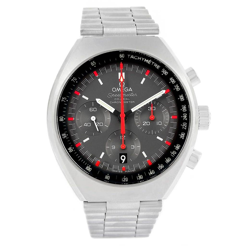 21001 Omega Speedmaster Mark II Chrono Watch 327.10.43.50.06.001 Box SwissWatchExpo