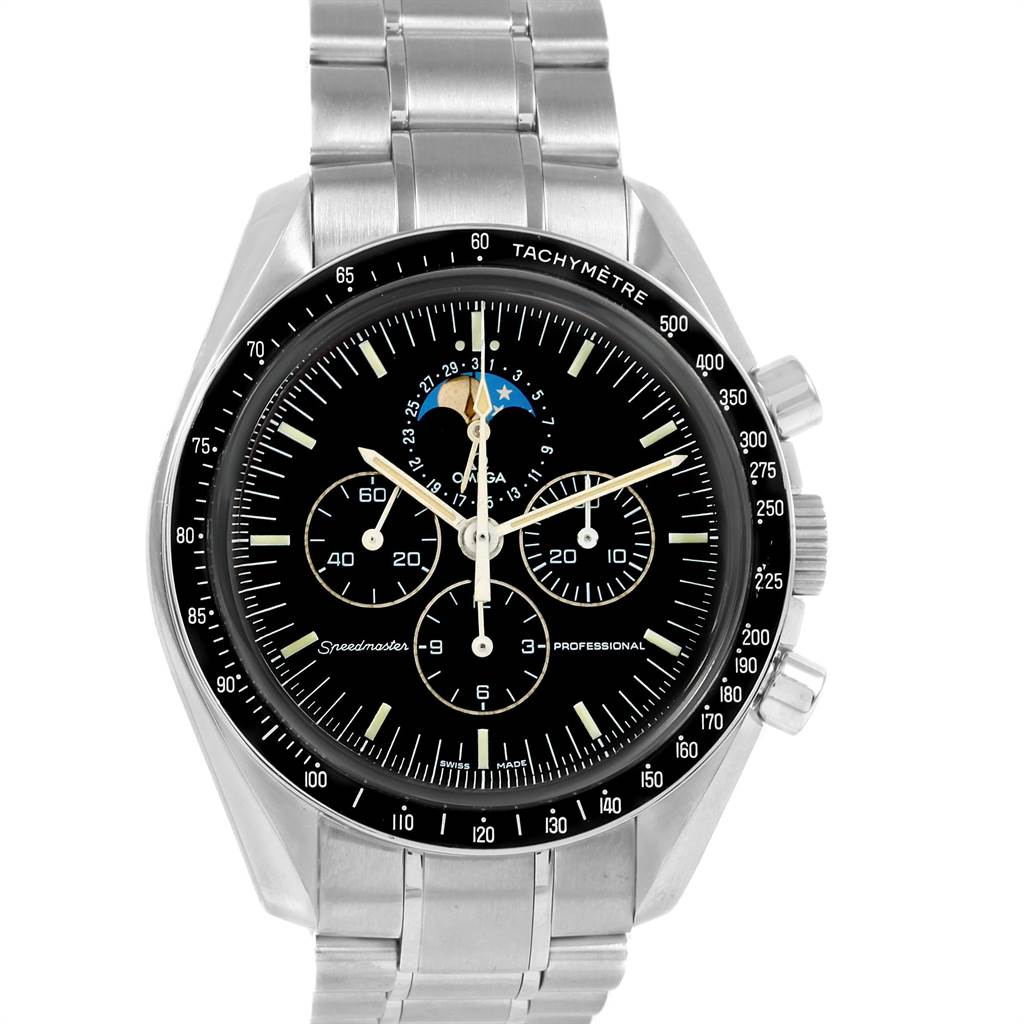 18074 Omega Speedmaster Professional Moonphase Moon Watch 3576.50.00 SwissWatchExpo
