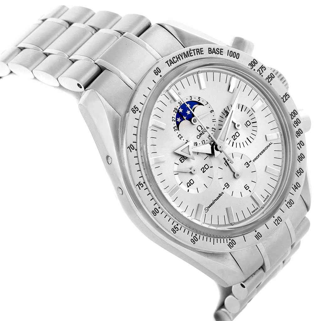 21078 Omega Speedmaster MoonPhase Broad Arrow Mens Watch 3575.30.00 SwissWatchExpo