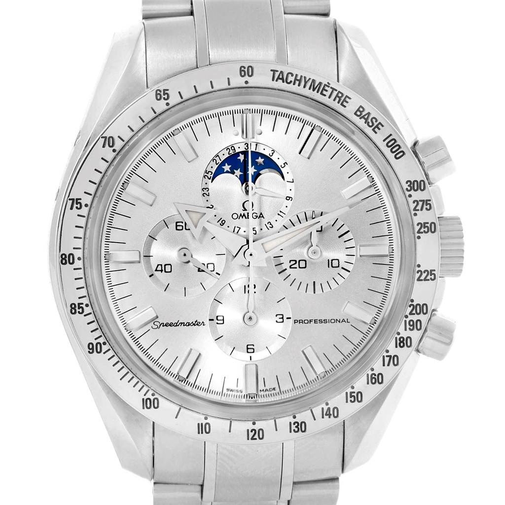 Omega Speedmaster MoonPhase Broad Arrow Mens Watch 3575.30.00 SwissWatchExpo