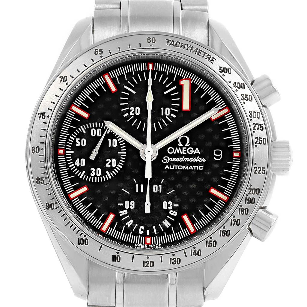 21080 Omega Speedmaster Schumacher Racing Limited Edition Watch 3519.50.00 SwissWatchExpo