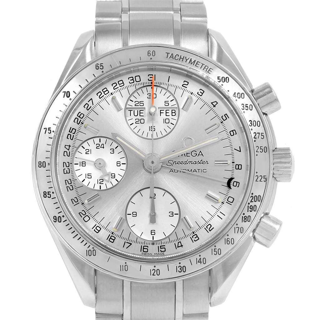 20798 Omega Speedmaster Day Date Chronograph Steel Mens Watch 3523.30.00 SwissWatchExpo