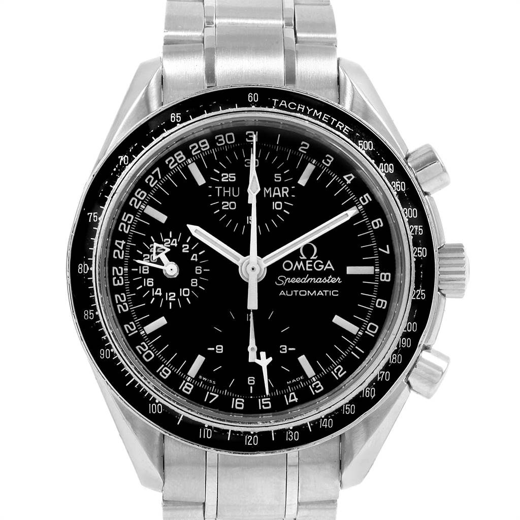 19301 Omega Speedmaster Day Date Black Dial Automatic Mens Watch 3520.50.00 SwissWatchExpo
