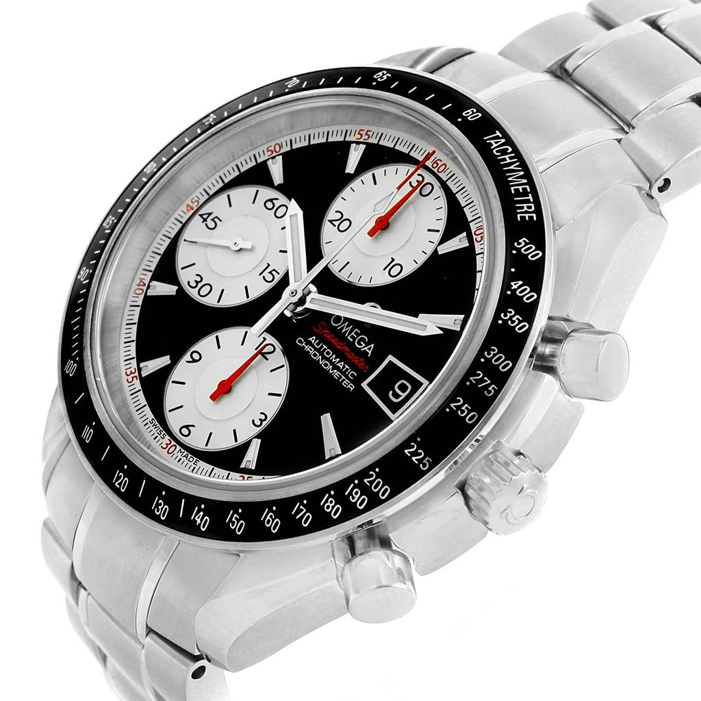 21010 Omega Speedmaster Date 40 Black Dial Mens Watch 3210.51.00 SwissWatchExpo