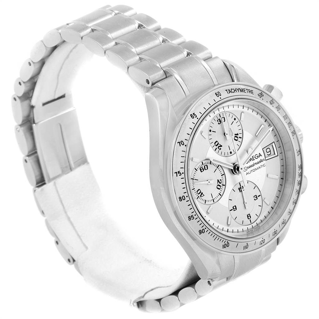 19025 Omega Speedmaster Date Silver Dial Automatic Watch 3513.30.00 SwissWatchExpo