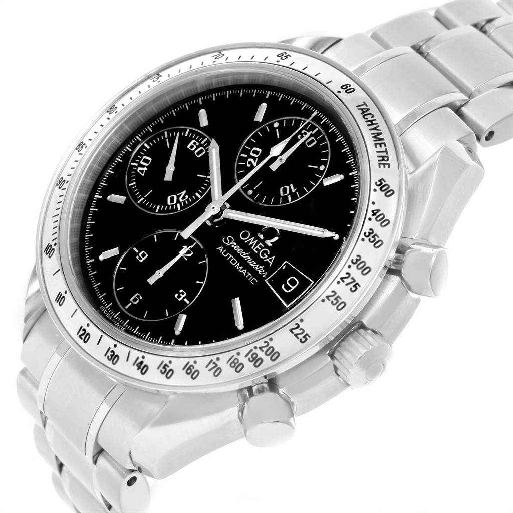 19295 Omega Speedmaster Chronograph Black Dial Steel Watch 3513.50.00  SwissWatchExpo