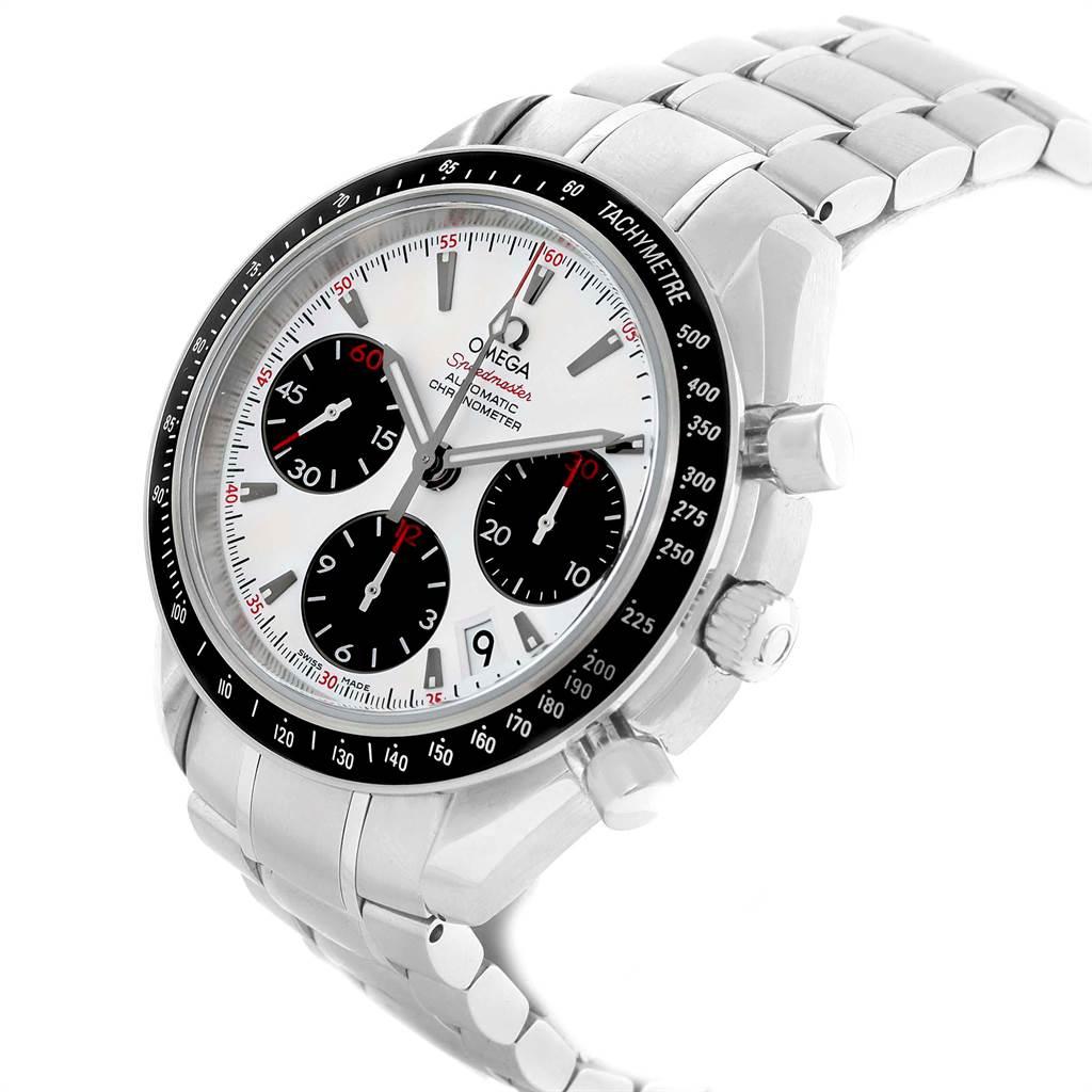 21744 Omega Speedmaster Date Panda Dial Watch 323.30.40.40.04.001 Box Card SwissWatchExpo