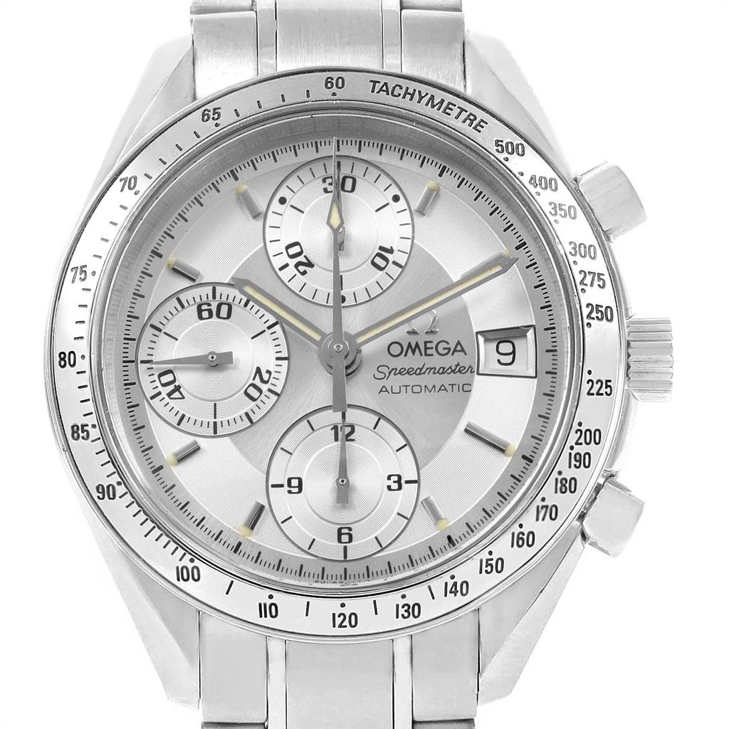 19014 Omega Speedmaster Date Silver Dial Automatic Mens Watch 3513.30.00 SwissWatchExpo