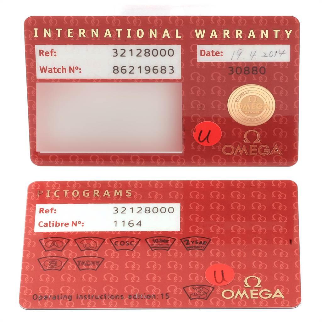 22406 Omega Speedmaster Date Blue Dial Chrono Watch 3212.80.00 Card SwissWatchExpo