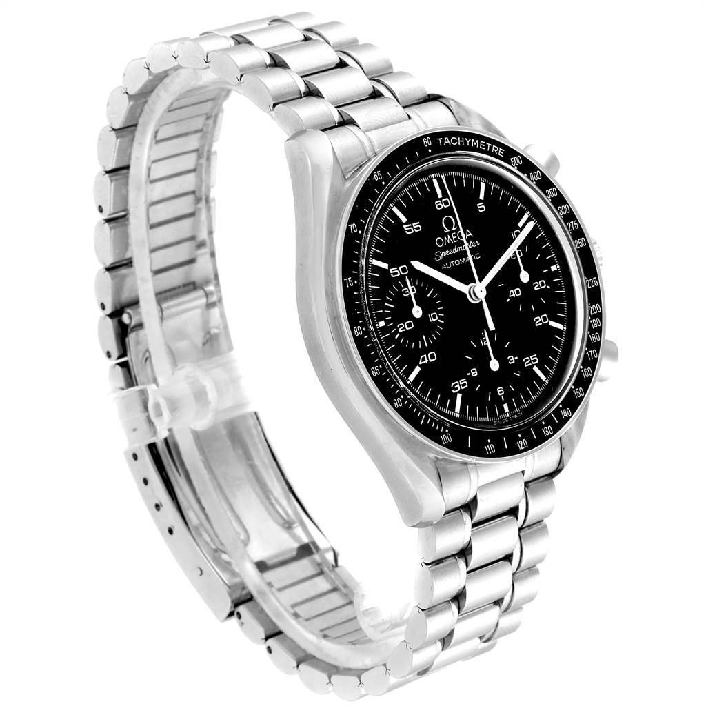 24180 Omega Speedmaster Reduced Black Dial Automatic Mens Watch 3510.50.00 SwissWatchExpo