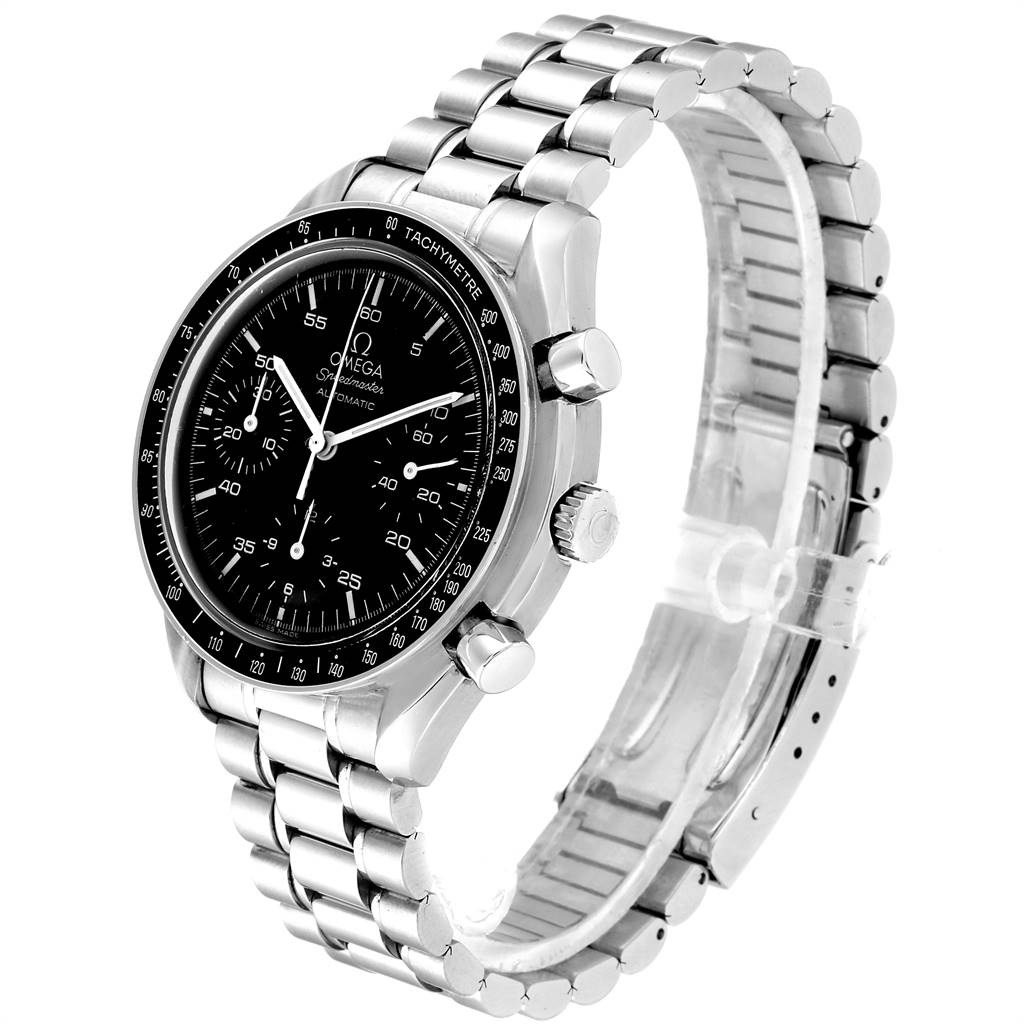 Omega Speedmaster Reduced Black Dial Automatic Mens Watch 3510.50.00 SwissWatchExpo