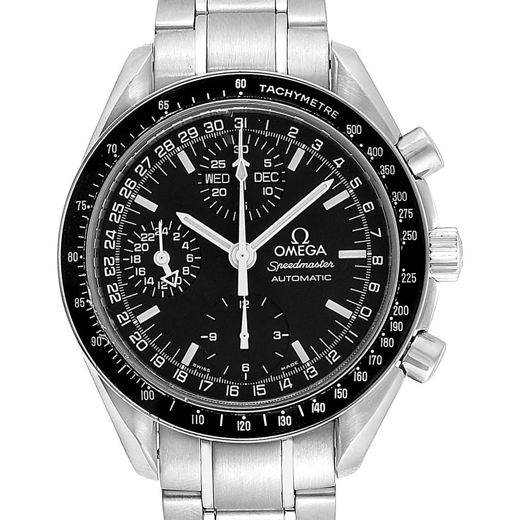 Omega Speedmaster Day Date Black Dial Automatic Mens Watch 3520.50.00 SwissWatchExpo